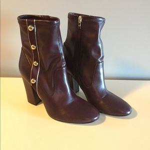 Marc Fisher burgundy studded boots 9